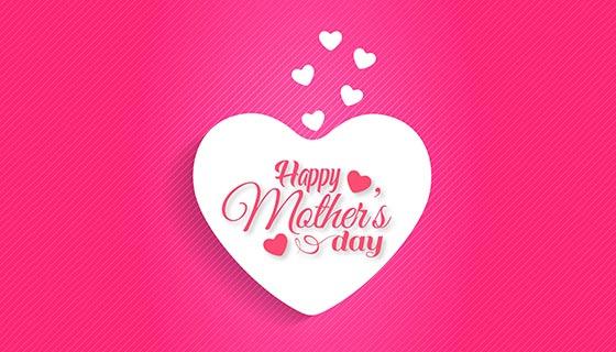 爱心母亲节背景矢量素材(EPS)