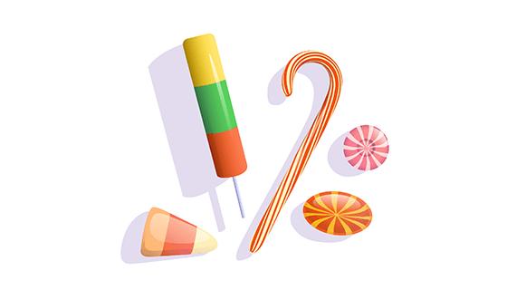 多彩逼真的糖果矢量素材(EPS/AI/PNG)