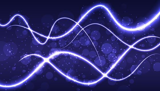 紫色波浪抽象背景矢量素材(EPS)