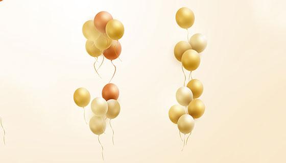逼真的气球矢量素材(EPS/AI/PNG)