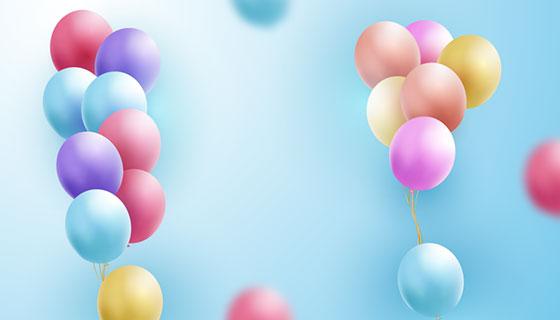 多彩逼真的气球矢量素材(EPS/AI)