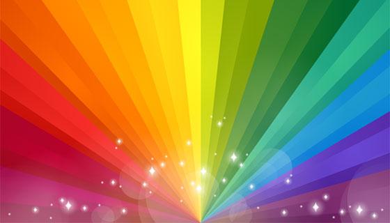 渐变彩虹背景矢量素材(EPS/AI)