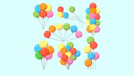 多彩的气球矢量素材(EPS/AI/PNG)