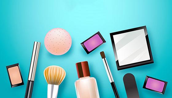 逼真的化妆品矢量素材(EPS/AI)