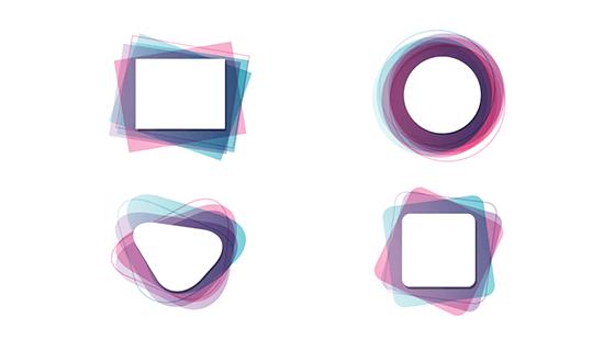渐变边框矢量素材(EPS/AI/PNG)