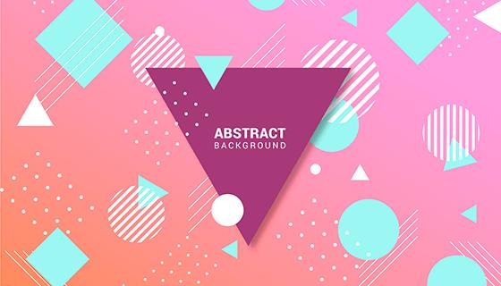 几何风格抽象背景矢量素材(EPS)