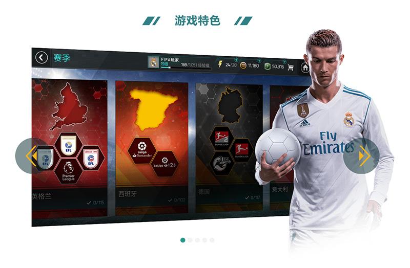 Swiper制作《FIFA足球世界》游戏特色幻灯片