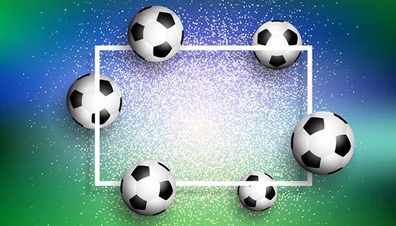 闪光背景上的足球矢量素材(EPS)