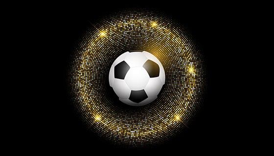 闪闪发光背景的足球矢量素材(EPS)