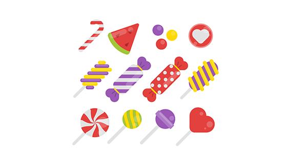 多彩美味糖果矢量素材(EPS/AI/PNG)