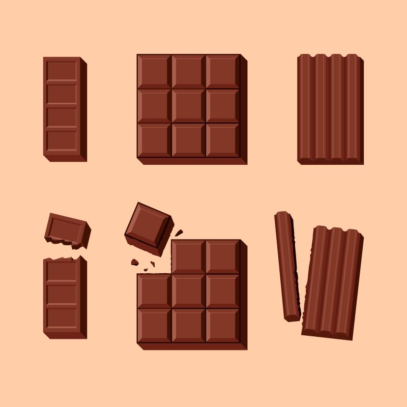 美味的巧克力矢量素材(EPS/AI/免扣PNG)