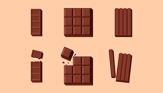 美味的巧克力矢量素材(EPS/AI/PNG)
