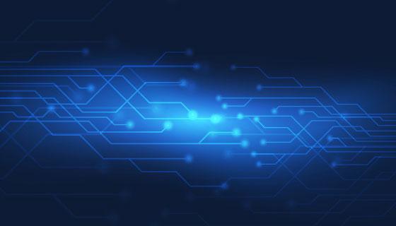 抽象蓝色科技背景矢量素材(EPS/AI)