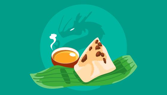 端午节美味粽子矢量素材(EPS/AI)