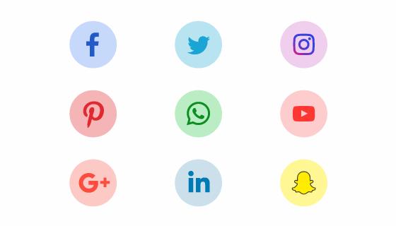 扁平社会化媒体图标矢量素材(EPS/PNG)