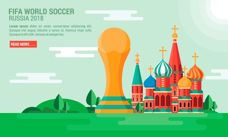 世界杯足球赛背景矢量素材(AI/SVG)