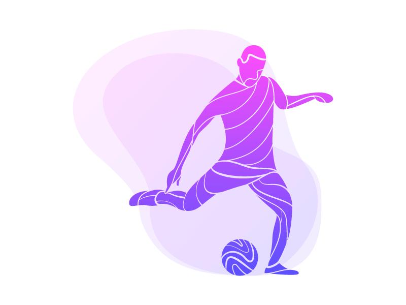 抽象足球运动员矢量素材(EPS/AI/SVG/免扣PNG)