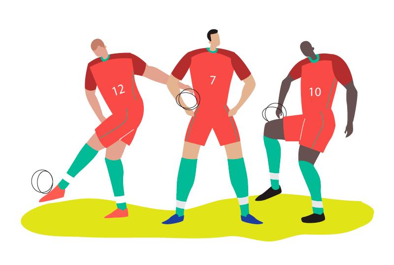 葡萄牙世界杯足球人物矢量素材(AI/SVG/免扣PNG)