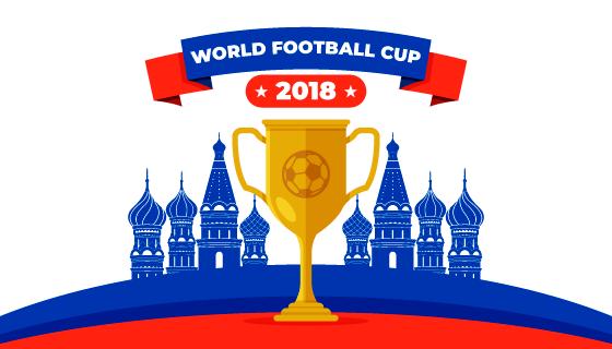 2018世界杯背景矢量素材(EPS/AI/免扣PNG)