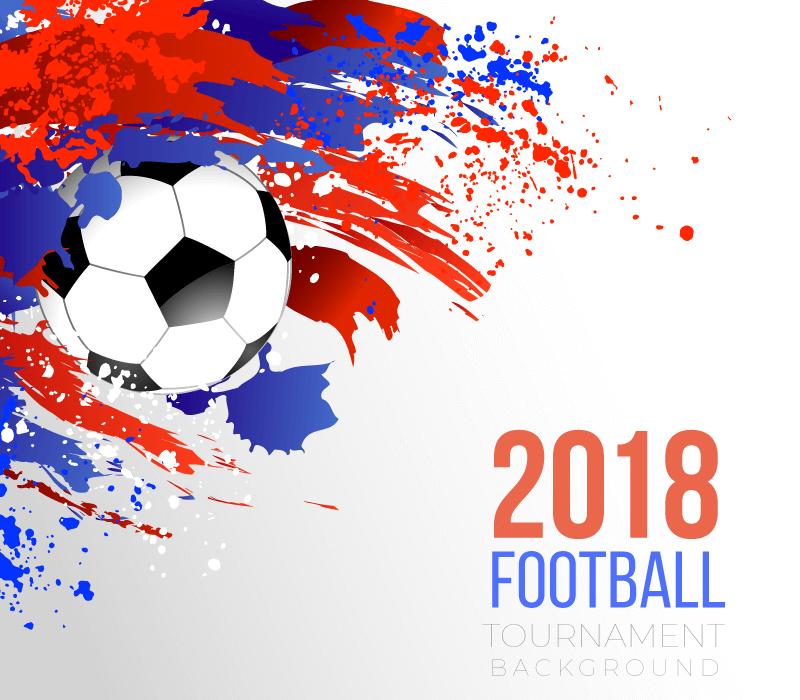 创意涂鸦2018世界杯背景矢量素材(EPS/AI/免扣PNG)