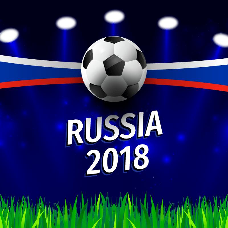 逼真的足球世界杯背景矢量素材(EPS/AI)