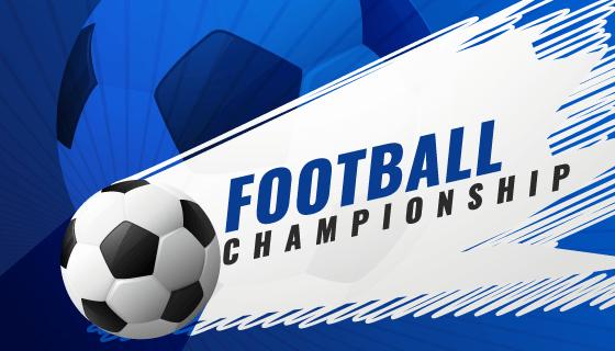 足球锦标赛比赛背景矢量素材(EPS)
