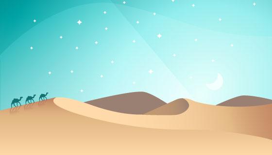阿拉伯夜景矢量素材(EPS)