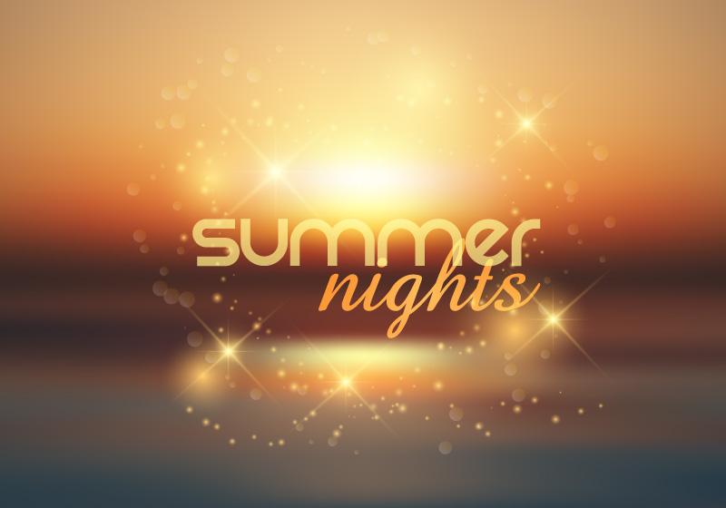 夏夜背景矢量素材(EPS)
