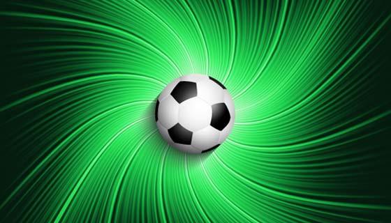 绿色抽象背景足球矢量素材(EPS)