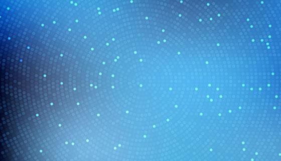 蓝色渐变半色调背景矢量素材(EPS)