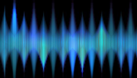 抽象电子波背景矢量素材(EPS)