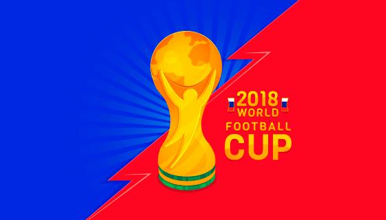 金色奖杯世界杯背景矢量素材(EPS/AI)
