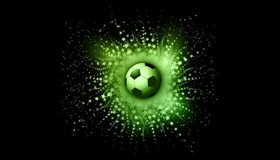 抽象星空背景下的足球矢量素材(EPS)