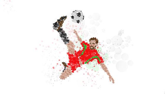 抽象运动员踢足球矢量素材(AI/PNG)