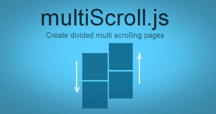 multiscroll.js - jQuery左右垂直反向滚动插件