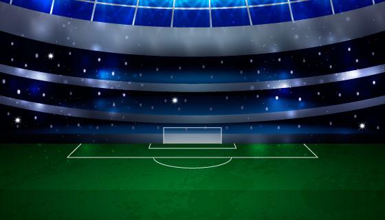 逼真的足球场背景矢量素材(EPS/AI)