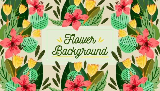 漂亮花卉背景矢量素材(EPS/AI)