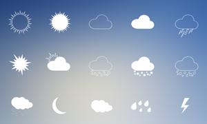 18个矢量天气图标下载
