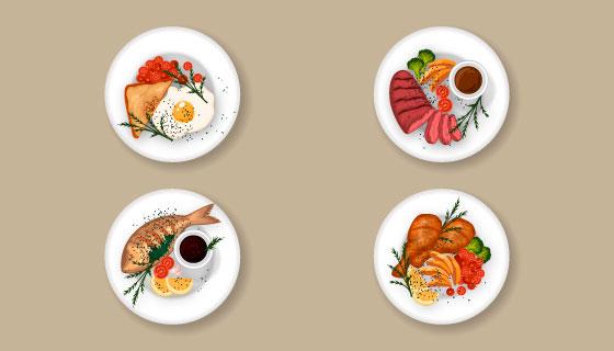 美味菜肴矢量素材(EPS/AI/PNG)