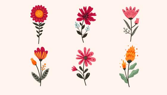 漂亮的花卉矢量素材(EPS/AI/PNG)
