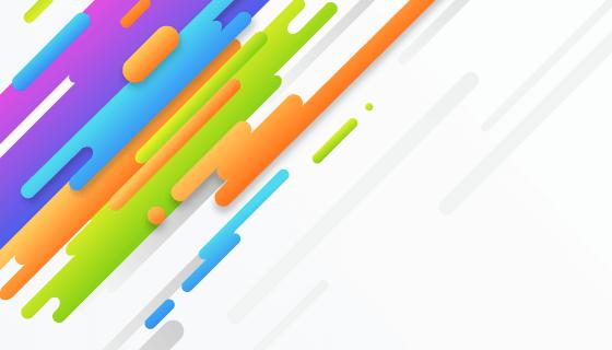 多彩圆柱抽象背景矢量素材(EPS/AI)