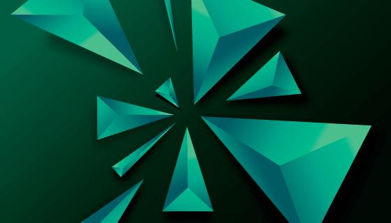 3D三角形抽象背景矢量素材(EPS/AI)