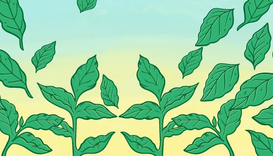 绿色叶子背景矢量素材(EPS/AI/PNG)