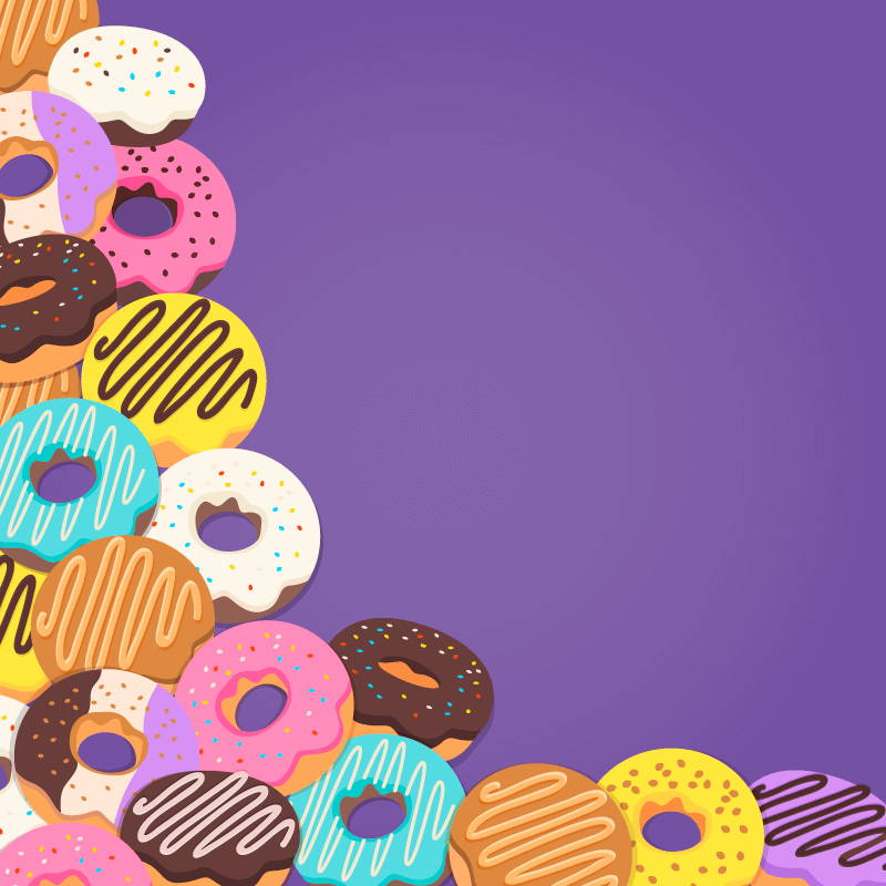 美味的甜甜圈矢量素材(EPS/AI)