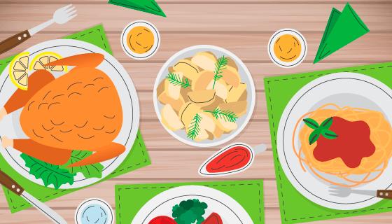 美味的食物矢量素材(EPS/AI)