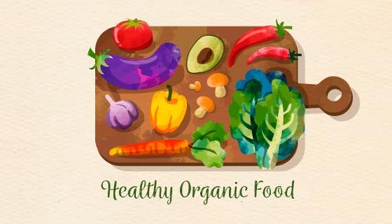 美味健康的食物矢量素材(EPS/AI/PNG)