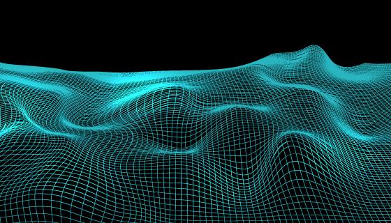抽象线框景观背景矢量素材(EPS)