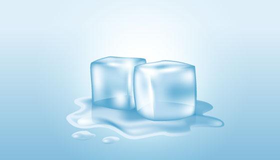 逼真的冰块矢量素材(EPS/AI/PNG)