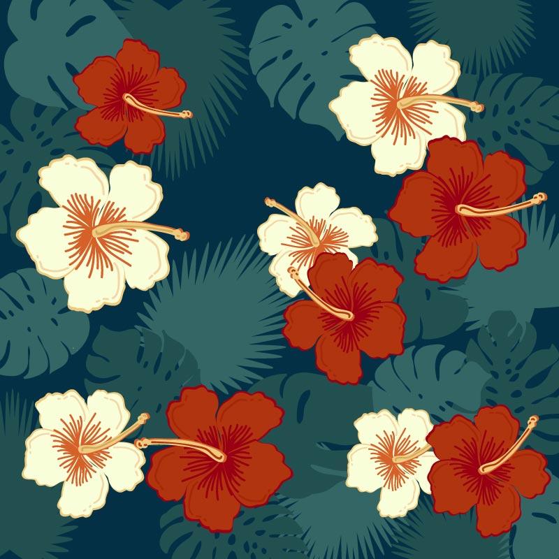 可爱的花卉背景矢量素材(EPS/AI/免扣PNG)