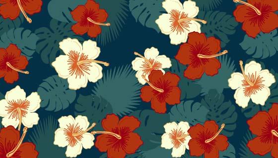 可爱的花卉背景矢量素材(EPS/AI/PNG)